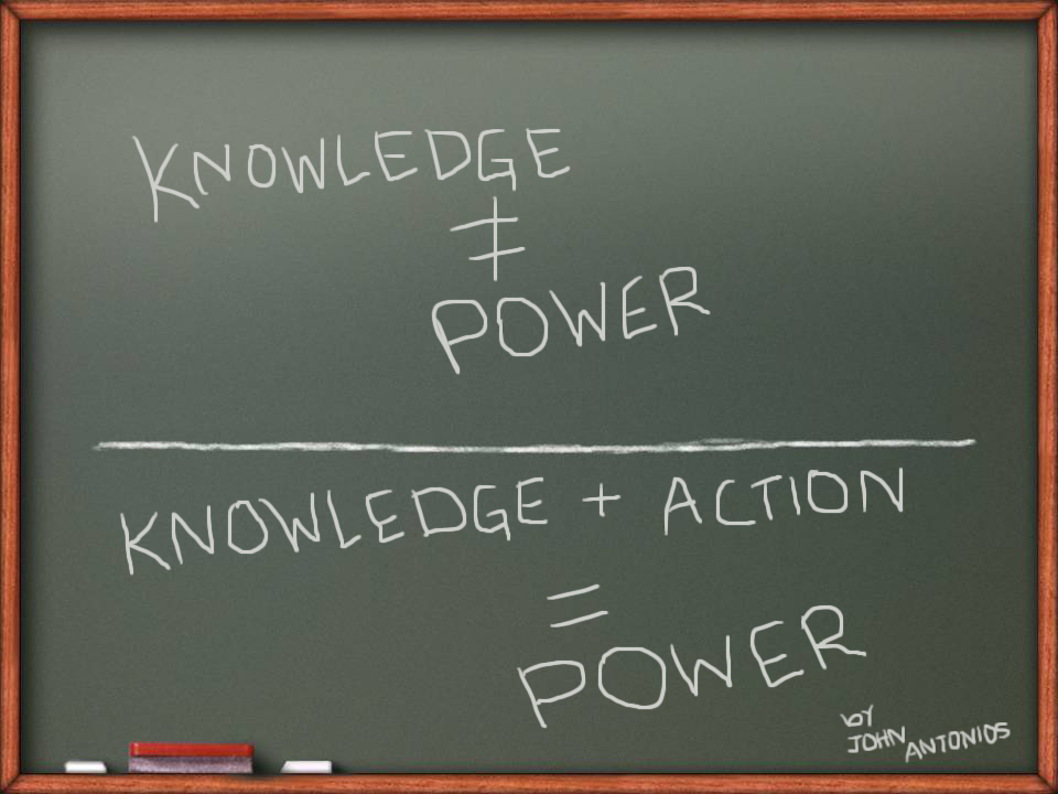 knowledge + action = power